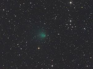 """2P/Encke ist der schwächste der vier Morgen-Kometen. CCD-Aufnahme vom 2. Oktober, 4:38 MESZ, 12""""-Astrograph bei 1150mm, FLI ML 8300, 5min (je LRGB). [Gerald Rhemann]"""