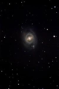 "SN 2012aw am 25.3.2012, 23:35 MEZ, Digitalfoto, 20""-Cassegrain bei 3454mm, Canon EOS 1100D Astro, ISO 1600, 70×2min. Nachbearbeitung mit Pixinsight 1.7.x. Sternwarte Peterberg, Saarland. [Markus Janes]"