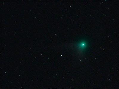 """Komet C/2008 A1 (McNaught) am 20. Oktober 2008, CCD-Aufnahme mit 12""""-Newton, ST2000XM, 28min. Bernhard Hubl."""