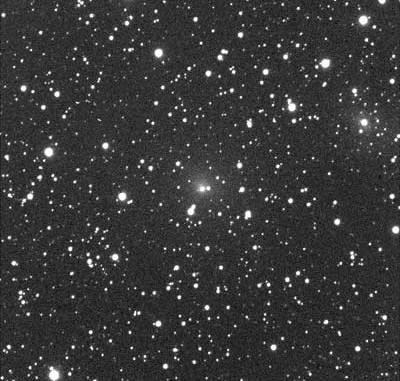 C/2008 C1 (Chen-Gao) am Abend des 12. Februar in England aufgenommen mit einem 35cm-Reflektor. Der Ausschnitt zeigt ca. 13'×13'. [Martin Mobberley]