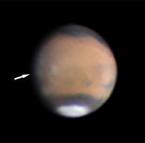 """Ein Teil der berühmten W-Wolke auf einer Aufnahme vom 9.1.2012, 12""""-ACF. [Efrain Rivera Morales]"""