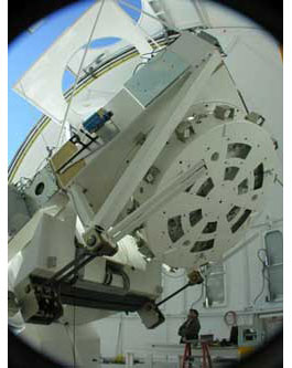 Das New Solar Telescope wird das Haupt- instrument des Big Bear Solar Observatory in Kalifornien sein — nun hat es seine ersten Bilder gemacht. [NJIT]