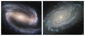 Irgendwo zwischen diesen beiden Spiralgalaxien – NGC 1330 und NGC3370 – dürfte die Gestalt unserer eigenen Milchstraße angesiedelt sein: Das große radioastronomische Projekt BeSSeL verspricht endlich eine klare Antwort. [NRAO]