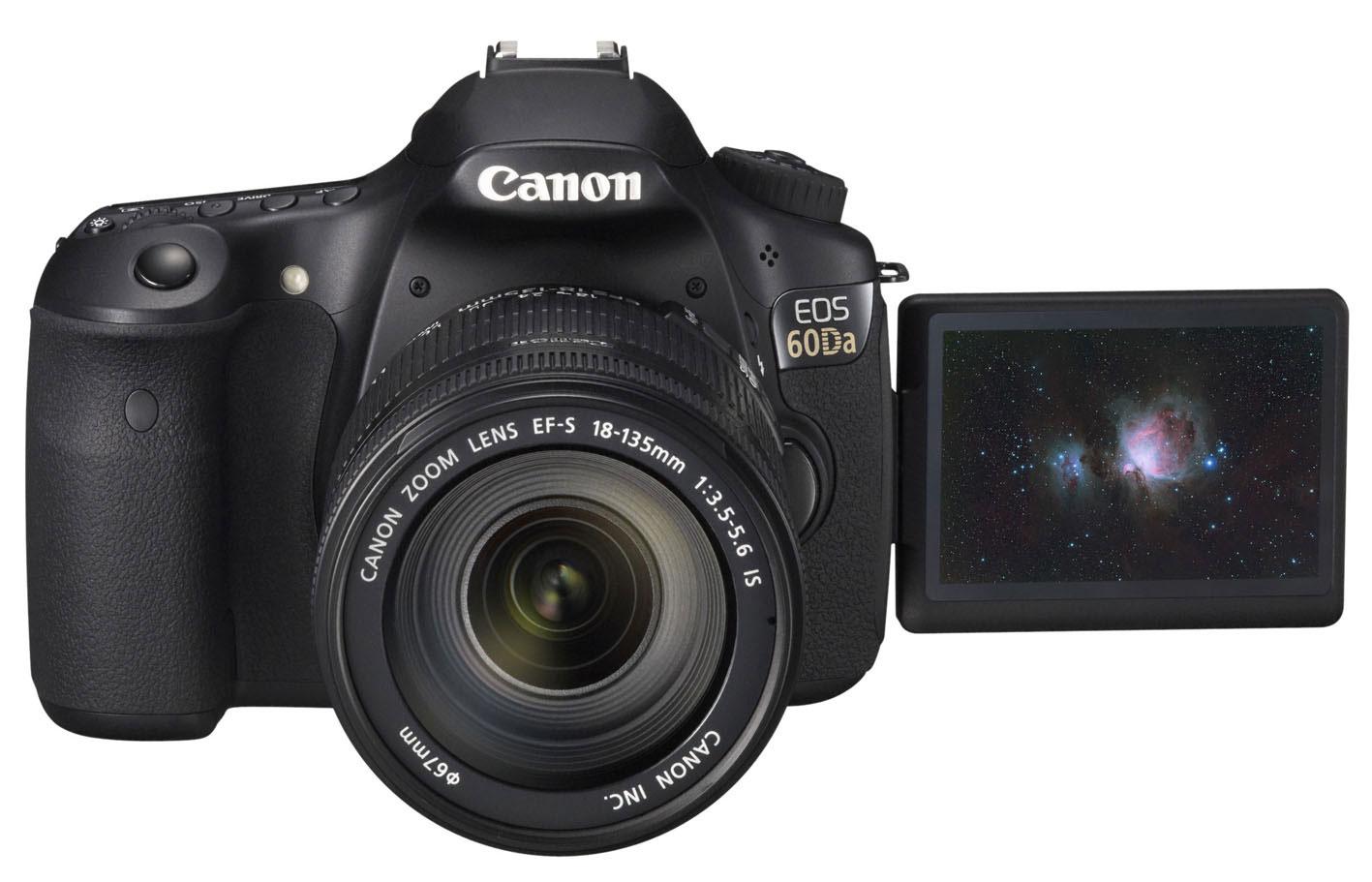 Das LC-Display der Canon EOS 60Da ist dreh- und schwenkbar.