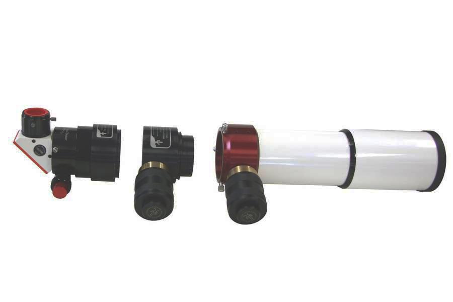 Das Lunt DSII wird einfach modular zwischen Tubus und Okularauszug eingesetzt.