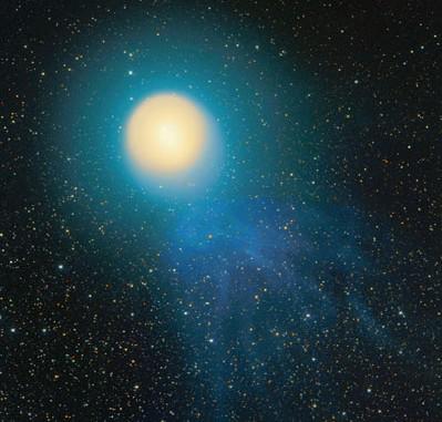 Der Komet vor dem Schweifabriss
