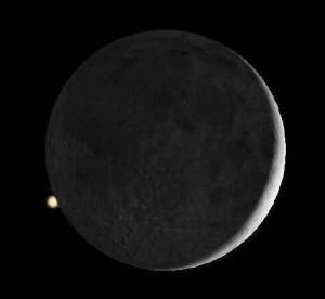 Der Mond bedeckt den Mars (1)