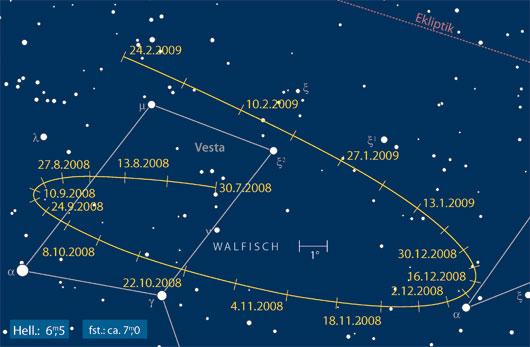 Kleinplanet Vesta in Opposition