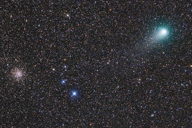 Komet Garradd bei M71 am 27.8. [Siegfried Kohlert]
