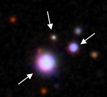 Trio aus drei Quasaren (1)