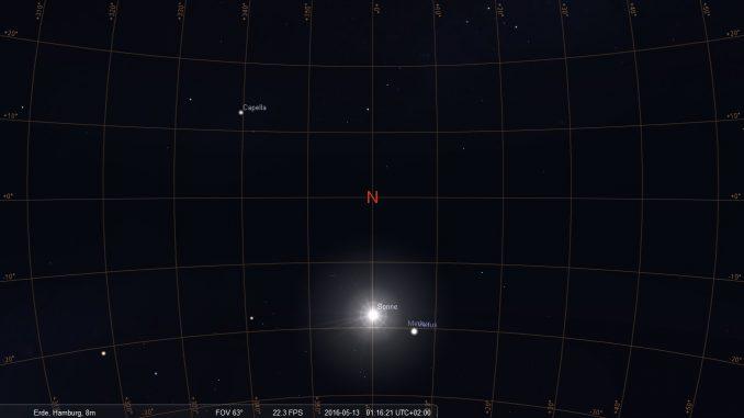 Sonne 18° unter Hamburgs Nordhorizont