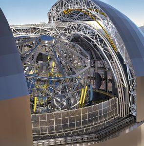 Virtueller Blick auf das europäische 39-Meter-Teleskop, für das heute der Bauvertrag unterzeichnet wurde. [ESO]