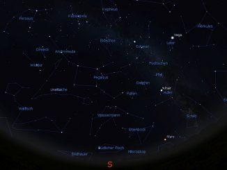 Der Himmelsanblick am 1.11.2016 um 20:00 MEZ