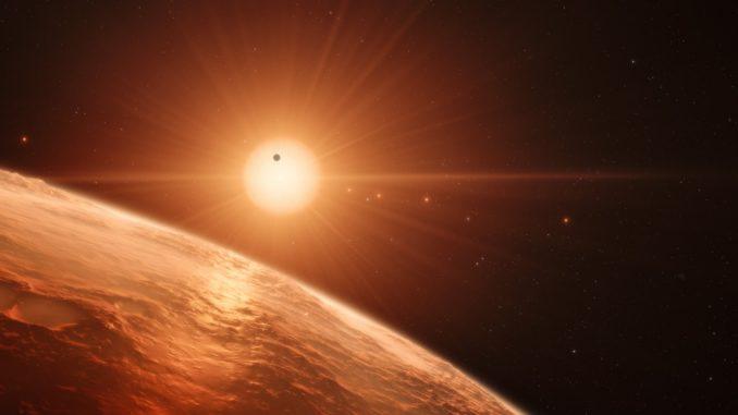 TRAPPIST-1, künstlerische Darstellung