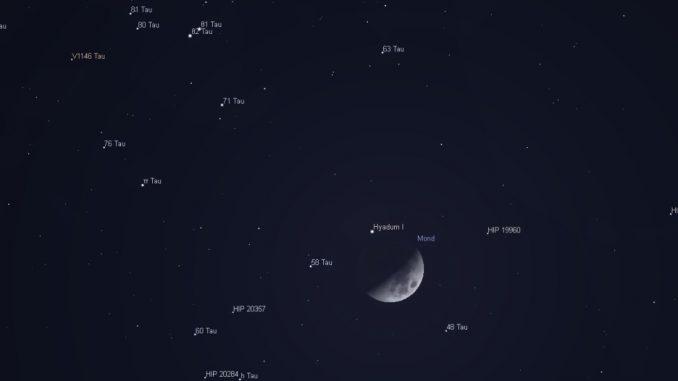 Mond in den Hyaden 4.3.2017