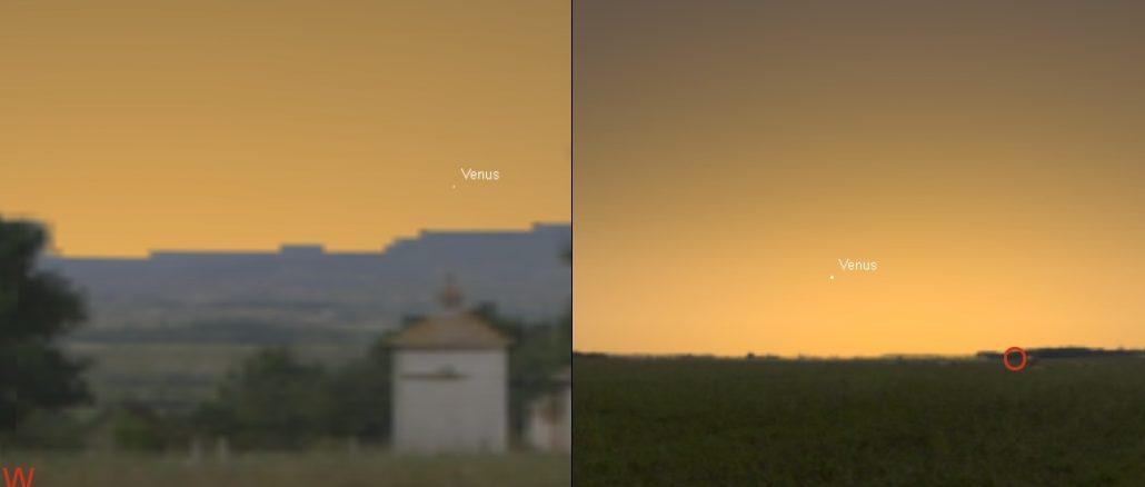Venus Abend- und Morgenstern März 2017
