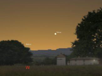 Venus bei Merkur 18.3.2017