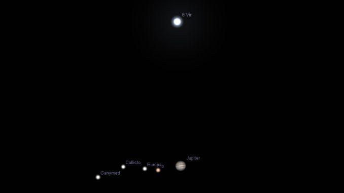 Jupiter und Theta Vir am 6.4.2017