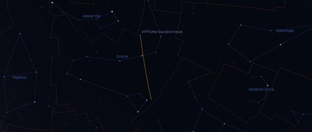 Komet 41P im Drachen