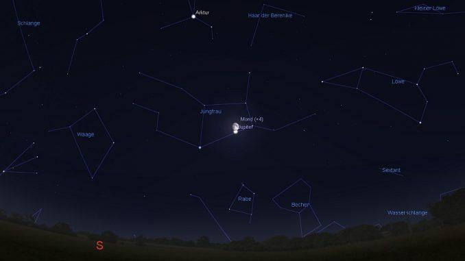 Jupiter-Mond-Begegnung 8.5.2017
