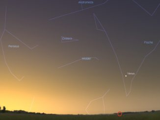 Morgenstern Venus am Tag seiner größten Elongation.
