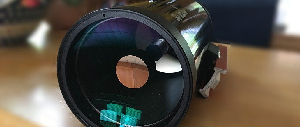 """Ein typisches Maksutov-Teleskop mit 4"""" Durchmesser und 1.300mm Brennweite [Foto: Peter Oden]"""