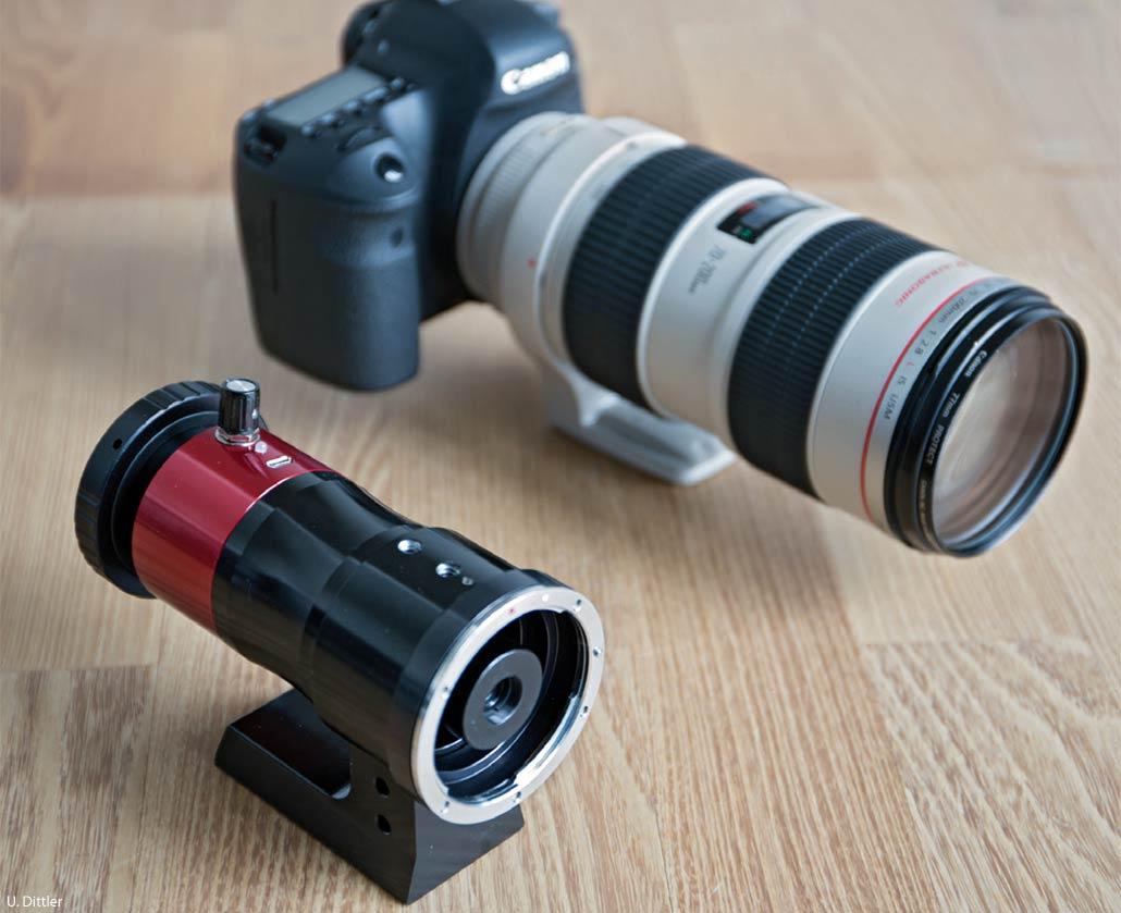 Die dslr als hα teleskop das hα filtersystem camera quark von