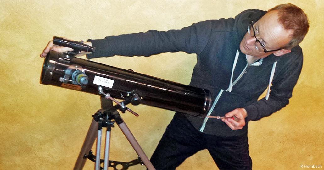 Den sucher am teleskop einrichten clear sky
