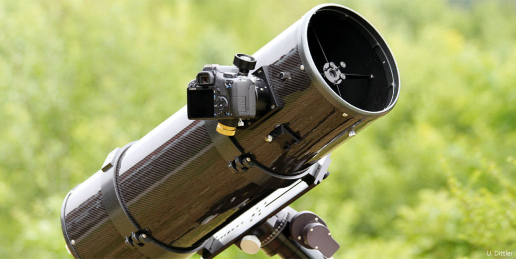Kamera am teleskop aber wie wolfgangs gartensternwarte
