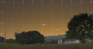 Astronomietag 24.3.2018 19:10 MEZ Venus Merkur