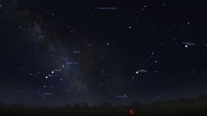 »Morgenhimmel-Planeten« am 7.4.2018