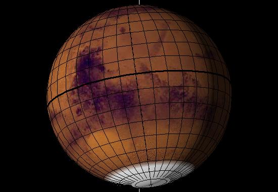 Auf seiner Südhalbkugel beginnt der Marsfrühling am 22.5.2018