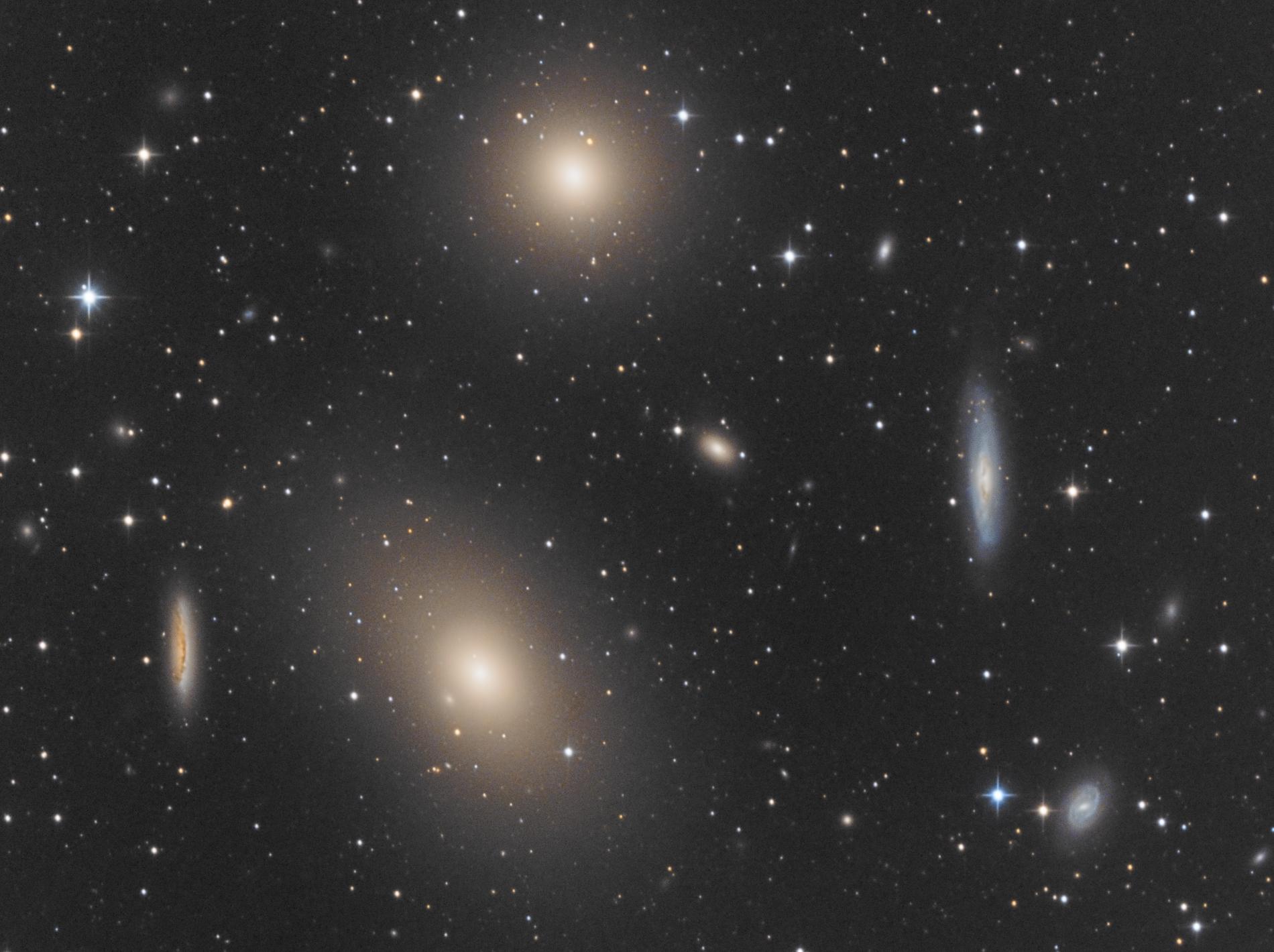 Center of the Virgo Cluster