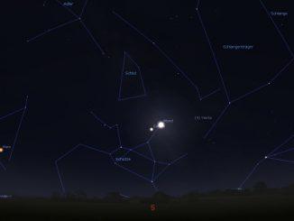 Saturnopposition und Mond 28.6.2018 1:20 MESZ