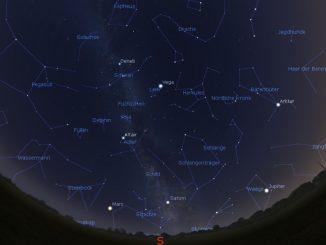 Astrovorschau September: Himmelsanblick am 1.9.2018 21:00 MESZ.