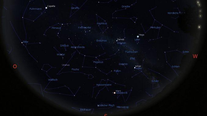 Astrovorschau November: Himmelsanblick am 1.11.2018 20h