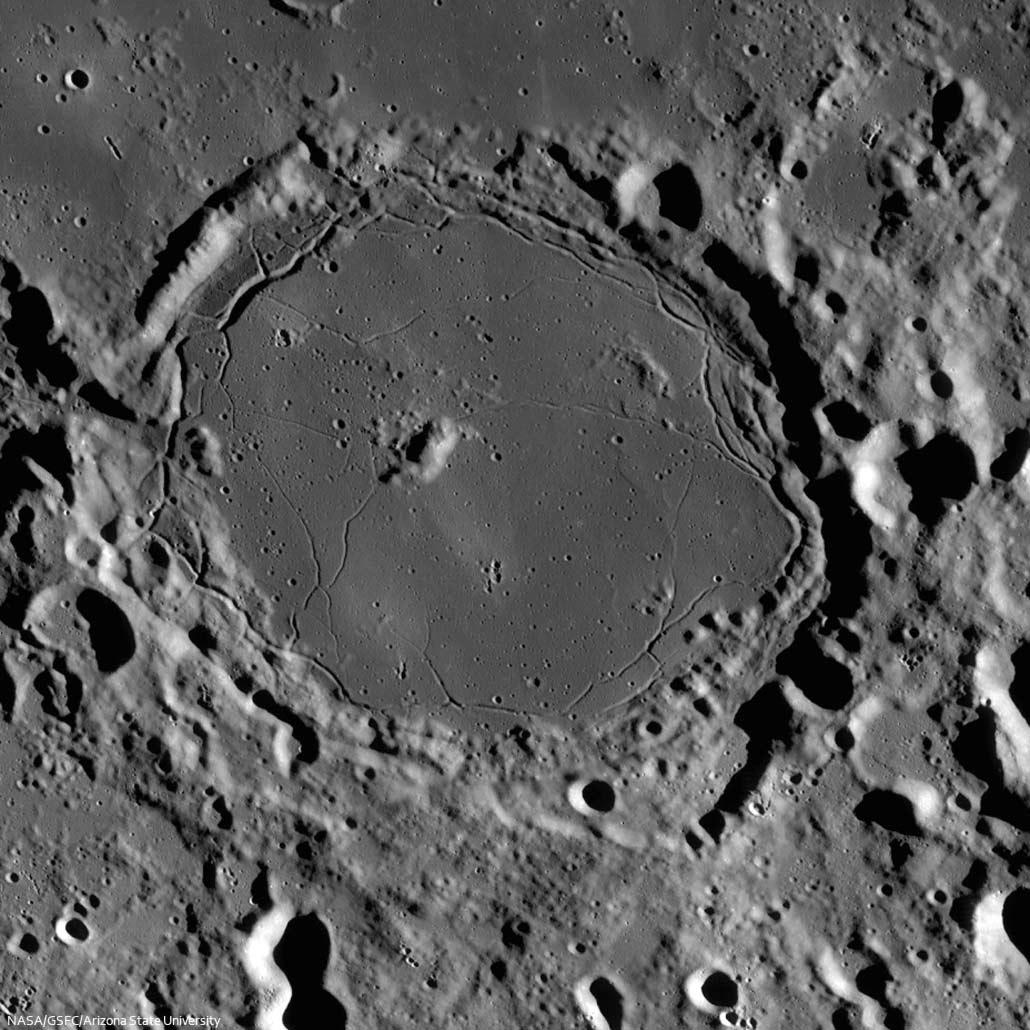 Rillensystem der Wallebene Pitatus